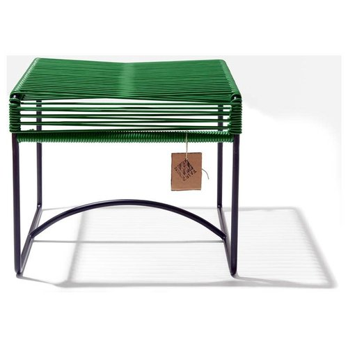 Xalapa Stool Black/Dark Green