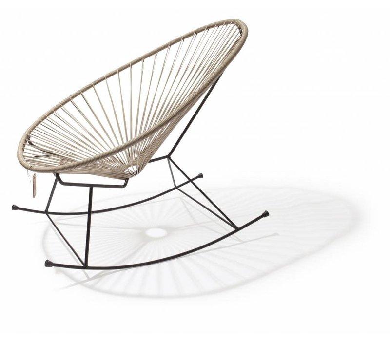 Acapulco Rocking Chair Black/Beige