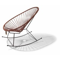 Acapulco Rocking Chair Black/Leather