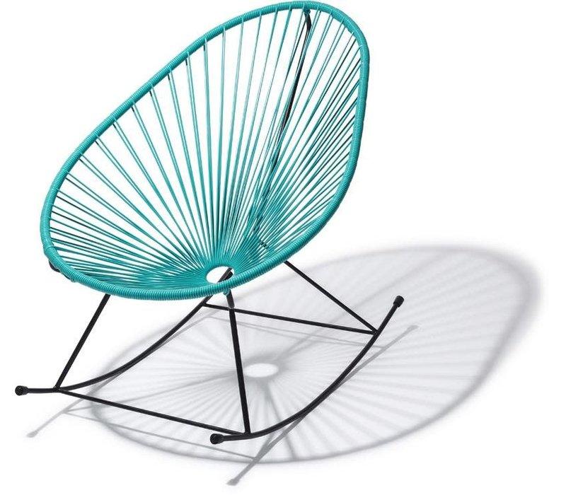 Acapulco Rocking Chair Black/Turquoise