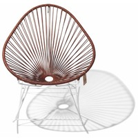 Acapulco Rocking Chair White/Leather
