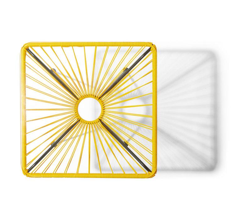 Bistro Table Tulum Black/Yellow