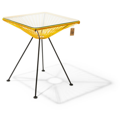Bistro Table Tulum Black/Yellow
