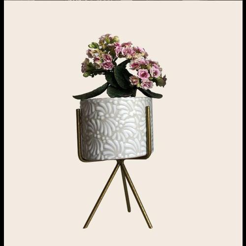 Flower Pot Ananda - White - Small ø10 cm x 8 cm