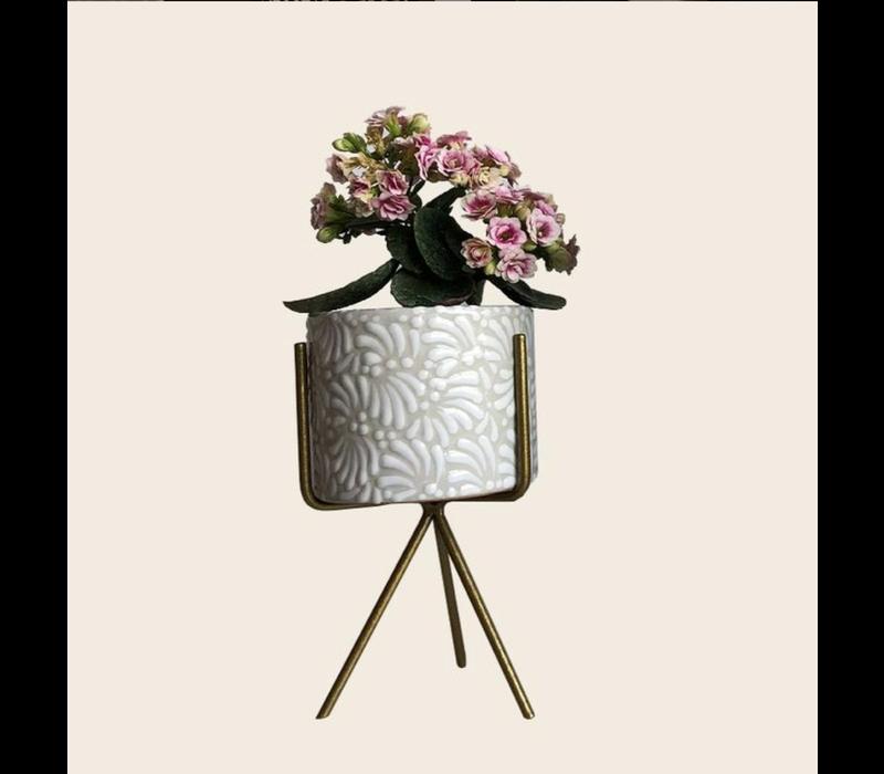 Bloempot Ananda - Wit - Small ø10 cm x 8 cm