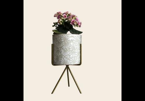 Talateca Flower Pot Ananda - White - Medium