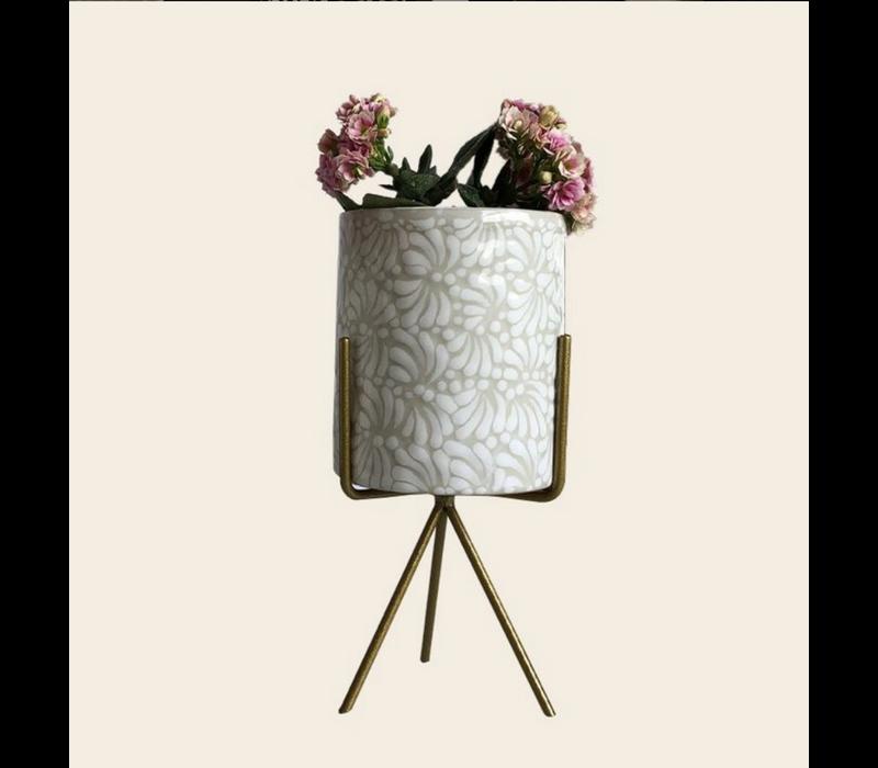 Bloempot Ananda - Wit - Large ø10 cm x 12 cm