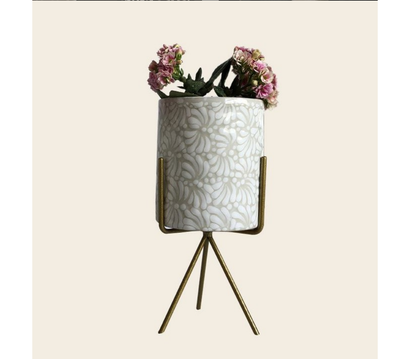 Flower Pot Ananda - White - Large ø10 cm x 12 cm