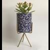 Talateca Bloempot Ananda - Kobalt Blauw - Large ø10 cm x 12 cm