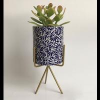 Flower Pot Ananda - Cobalt Blue - Large ø10 cm x 12 cm