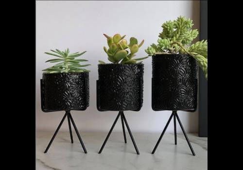 Talateca Flower Pot Ananda - Black - Small