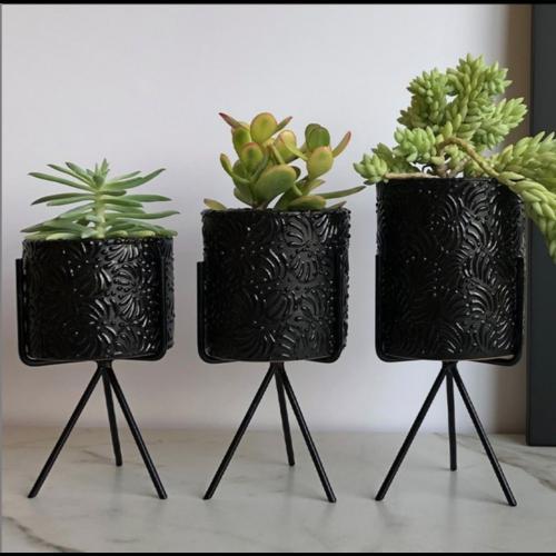 Flower Pot Ananda - Black - Small