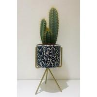 Bloempot Ananda - Kobalt Blauw - Small ø10 cm x 8 cm