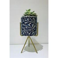Bloempot Ananda - Kobalt Blauw - Medium ø10 cm x 10 cm