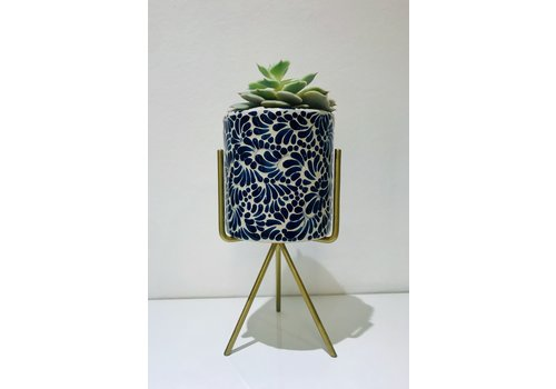 Talateca Flower Pot Ananda - Cobalt Blue - Medium