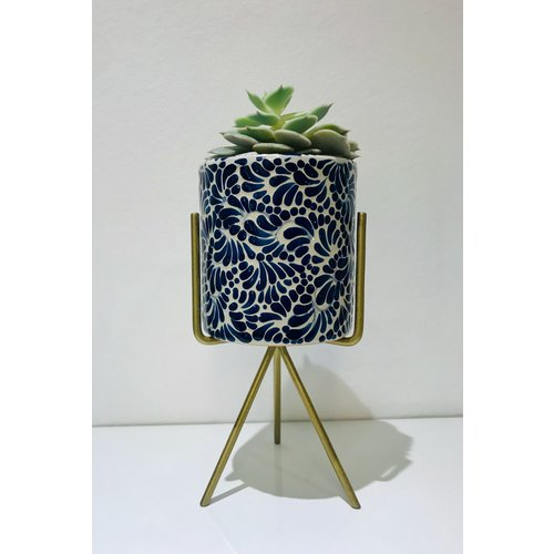 Flower Pot Ananda - Cobalt Blue - Medium