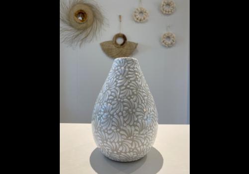 Talateca Flower Vase Conica -  White