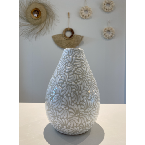 Flower Vase Conica -  White