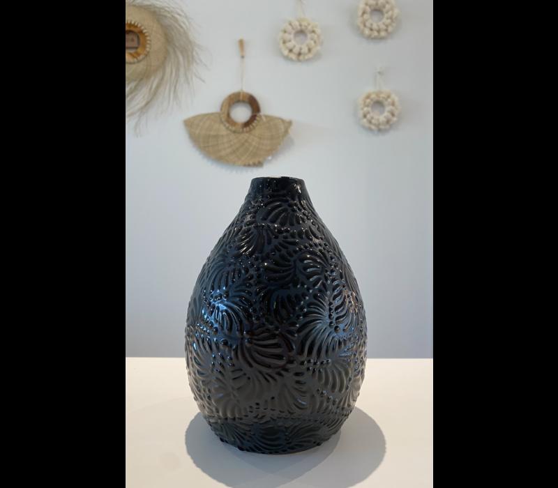 Flower Vase Conica - Black