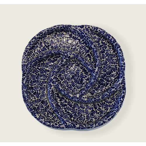 Appetizers Plate Botanero - Cobalt Blue