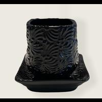 Bloempot Cuadrada - Zwart