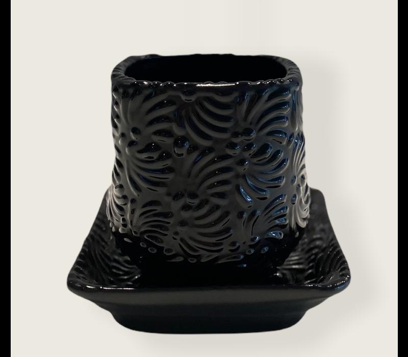 Flower Pot Cuadrada - Black