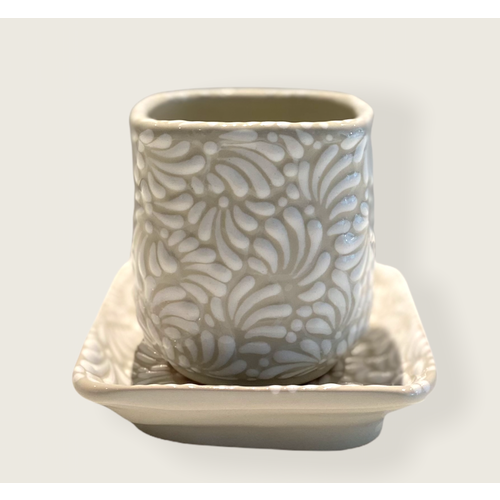 Flower Pot Cuadrada - White