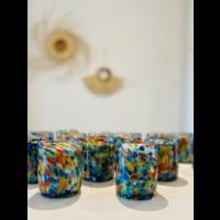 Glass Candle - Pintas Multi Colour - Non-Scented