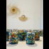 Meshic Glass Candle - Pintas Multi Colour - Toronja Mandarina