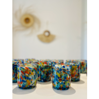 Glass Candle - Pintas Multi Colour - Toronja Mandarina