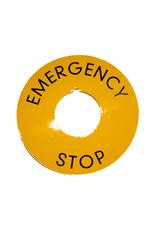 VLB Bread Slicers Emergency label (ring emergency stop)