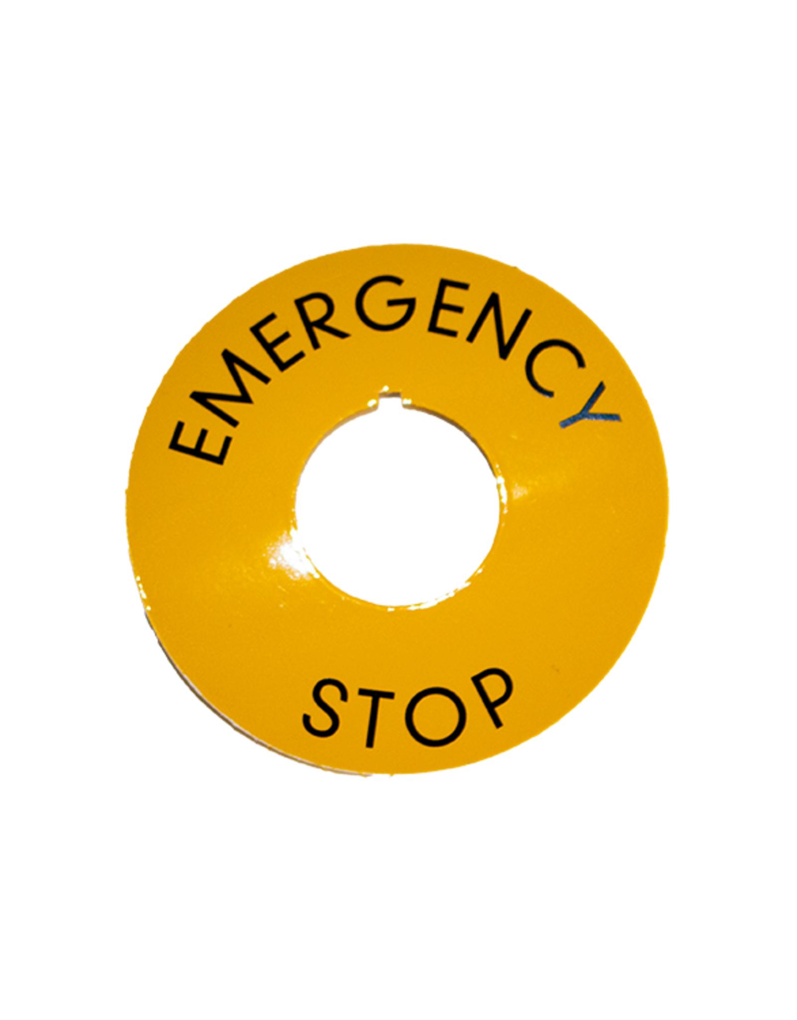 VLB Bread Slicers Emergency etiket (ring noodstop)