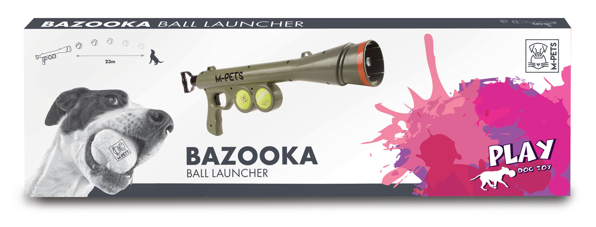 Bazooka Ball Launcher + 2 ballen