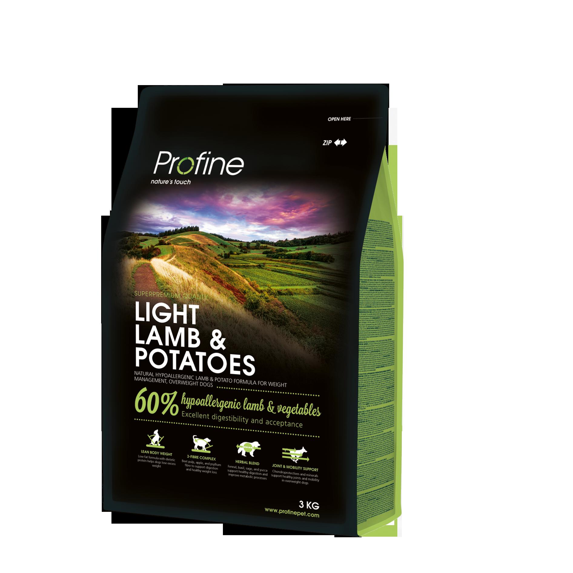 Profine Light & Lamb Potatoes 3  kg