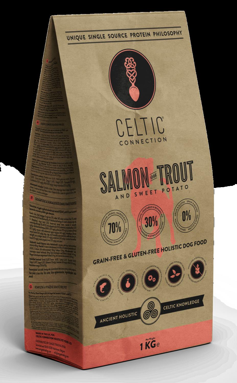 Salmon with Trout & Sweet Potato