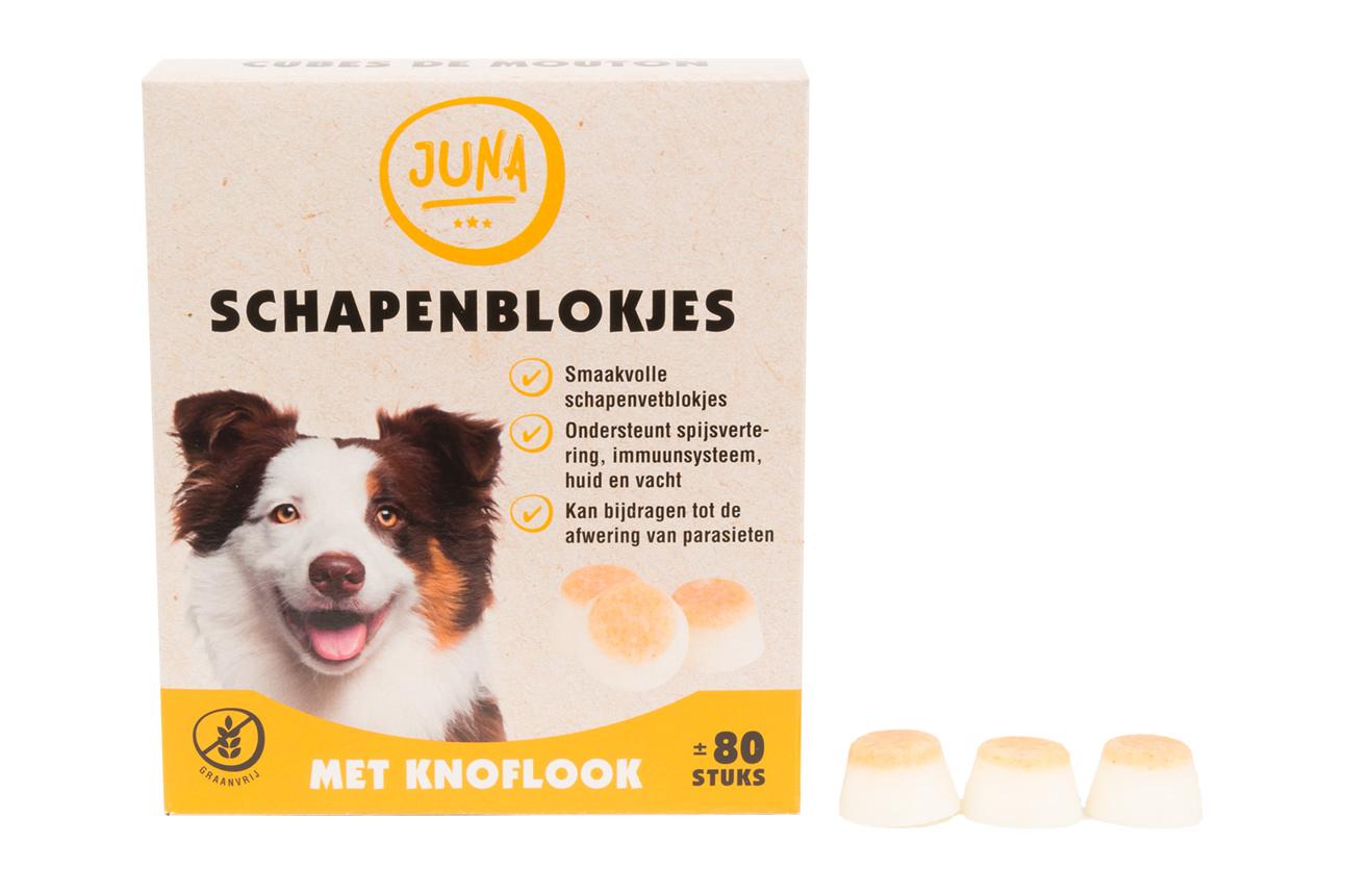 Juna Schapenvetblokjes met Knoflook