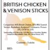British Chicken & Venison Sticks