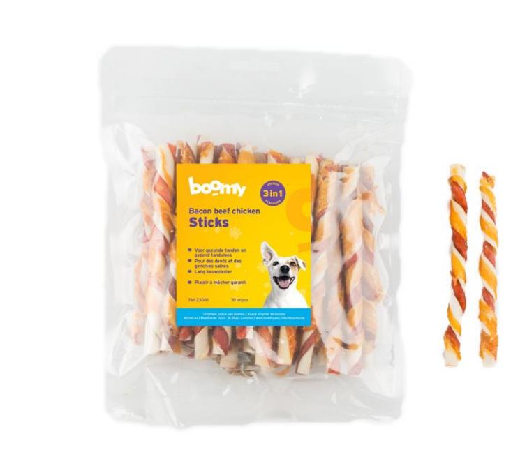 Boomy Bacon Beef Chicken Sticks
