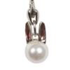 Charm Necklace Bubble Rabbit Silver