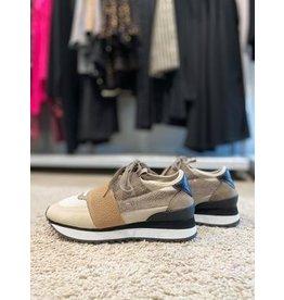 Corina Sneaker met elastiek in  Camel
