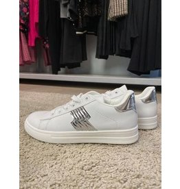 Sneaker wit zilver accent