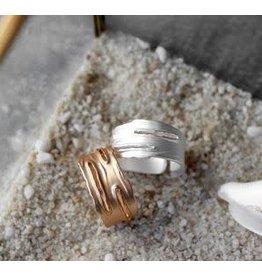 BIBA Ring met groeven Biba