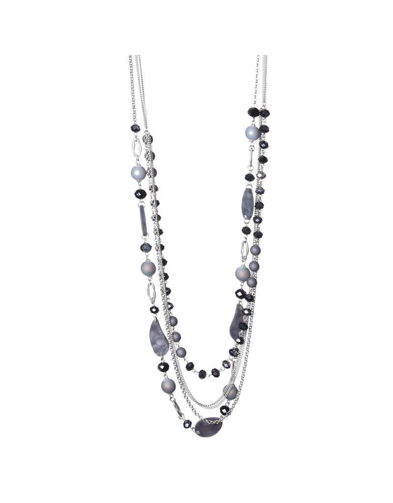 BIBA Biba 60368 Black/Silver lange ketting
