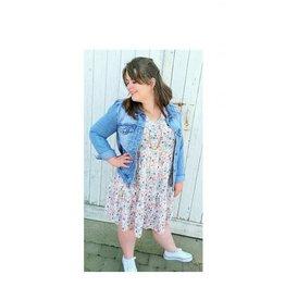 Z ONE Z-one Jeans jas in het blauw, kaki en wit