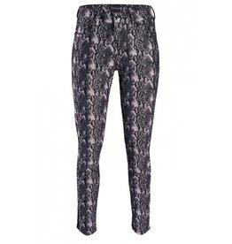 Anna Montana Skinny broek denver grijs met print