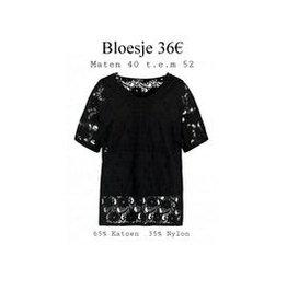 Z ONE Z-one blouse zwart met kant