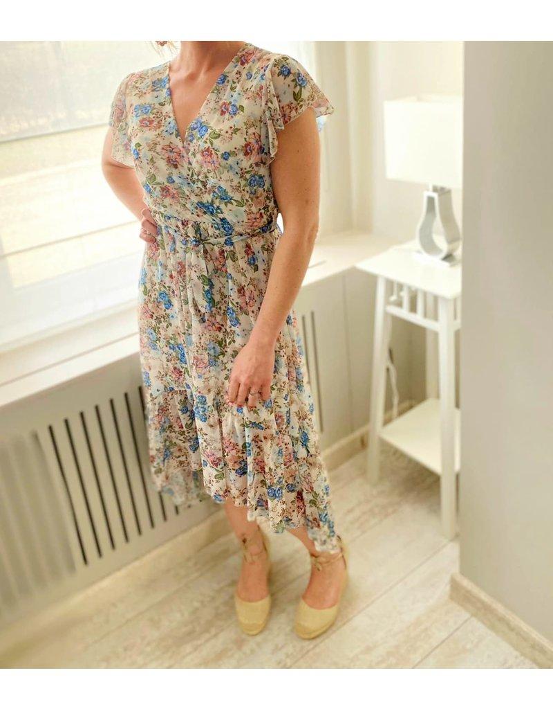 Terra di Sienna Lang kleed Sarah Lichtblauw