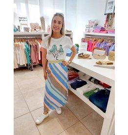 Costa Mani Happy Skirt Multi Stripe