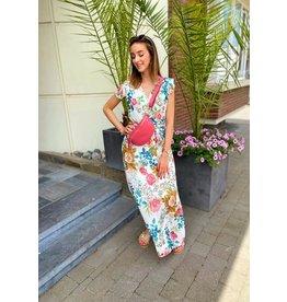 Julie Mode Dress Caro - Wit Multicolor