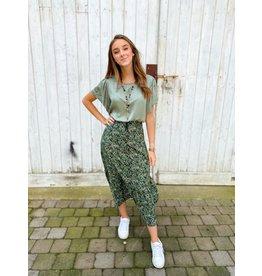 Terra di Sienna Silky blouse - Khaki TU